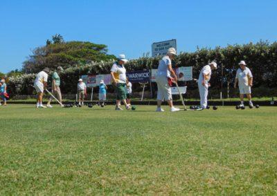 Palying on the Umtentweni Bowling Club Green 2019 (1)