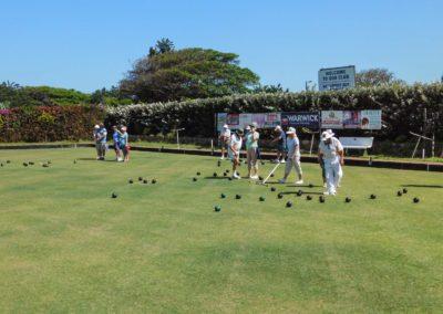 Playing on the Umtentweni Bowling Club Green 2019